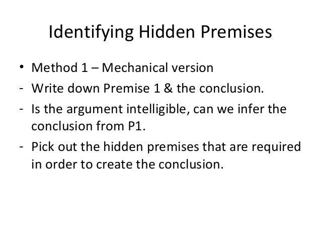 implicit premise
