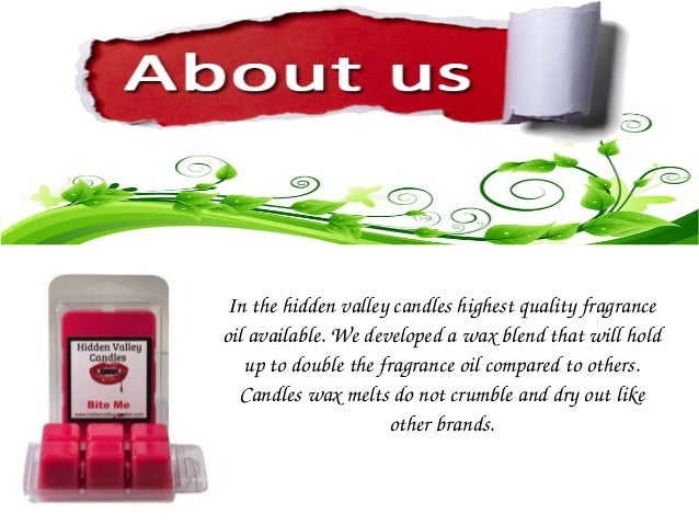 Hidden valley candles for Different brands of candles
