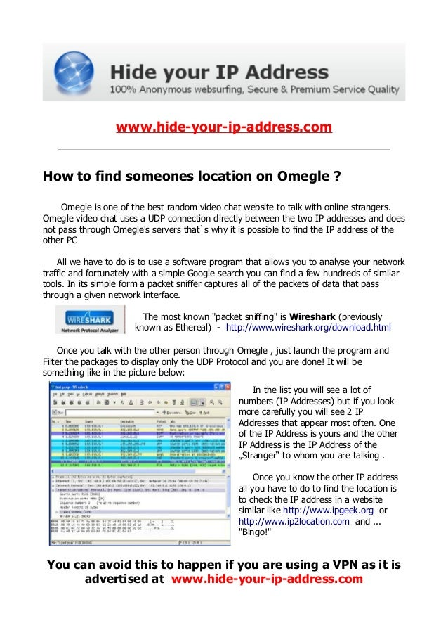 From omegle How to someone find