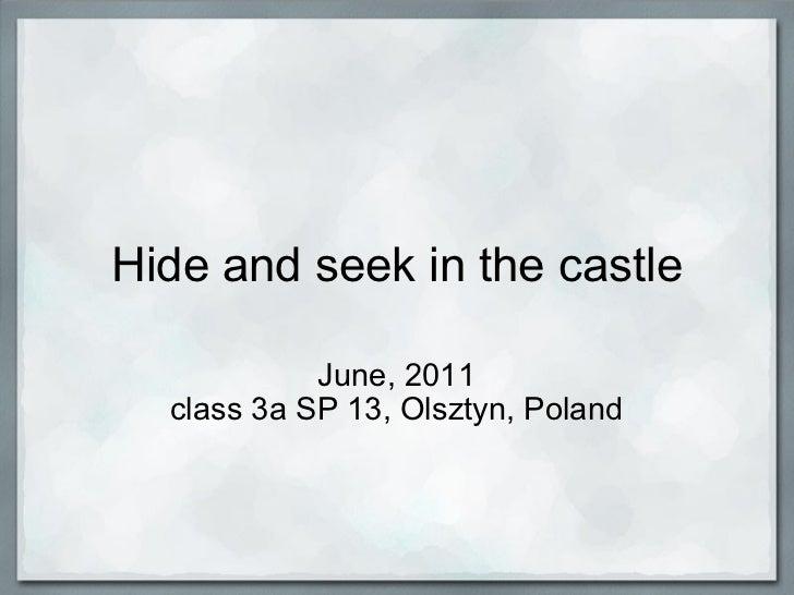Hide and seek in the castle June, 2011 class 3a SP 13, Olsztyn, Poland