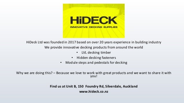 HiDeck Ltd presentation