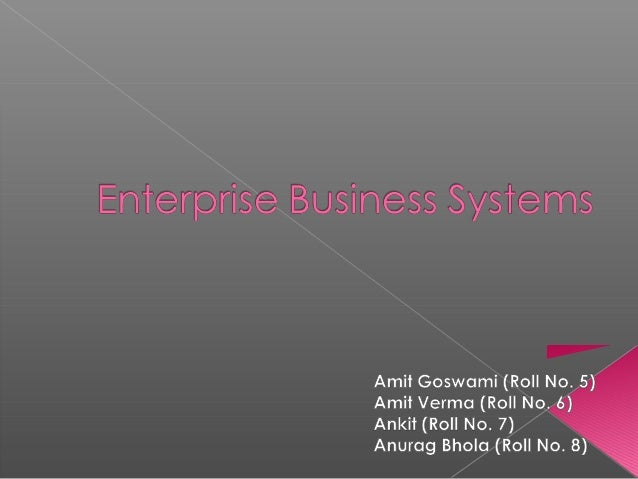  Enterprise Business Systems / e-business – a part of Electronic Business Systems  e-business – Use of Internet, IT to s...