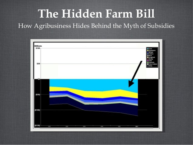 The Hidden Farm Bill How Agribusiness Hides Behind the Myth of Subsidies