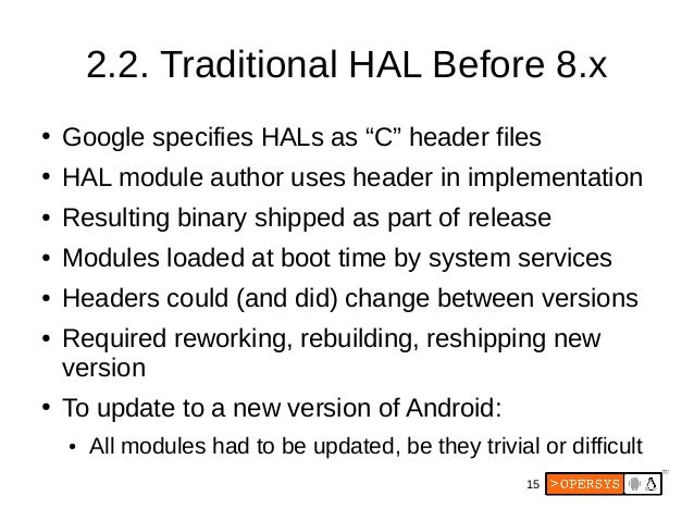 Android's HIDL: Treble in the HAL