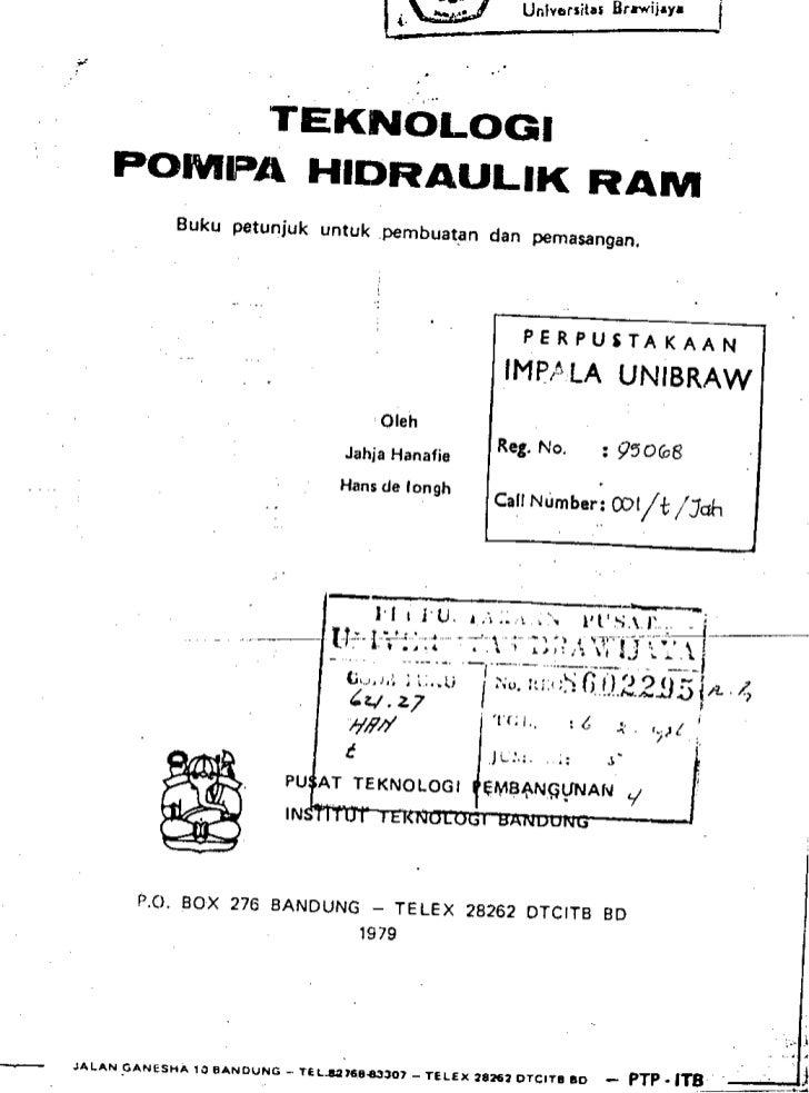 Teknologi Pompa Hidraulik Ram