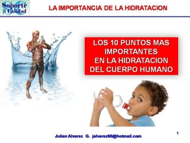 Hidratacion del Cuerpo Humano