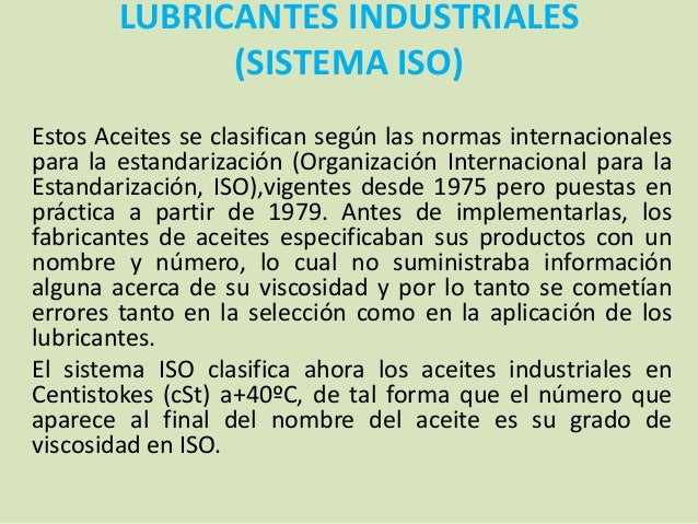 Norma iso para aceites lubricantes