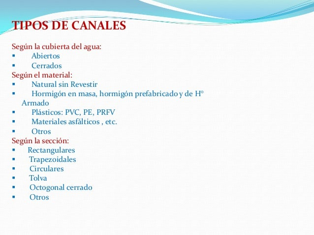 Tipos de hidraulica