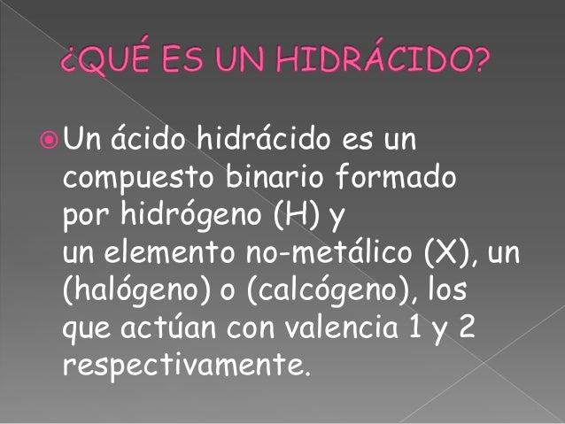 Hidrácidos Slide 2
