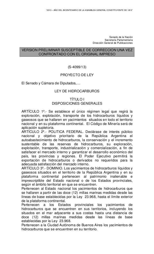 """""""2013 – AÑO DEL BICENTENARIO DE LA ASAMBLEA GENERAL CONSTITUYENTE DE 1813"""" Senado de la Nación Secretaría Parlamentaria Di..."""