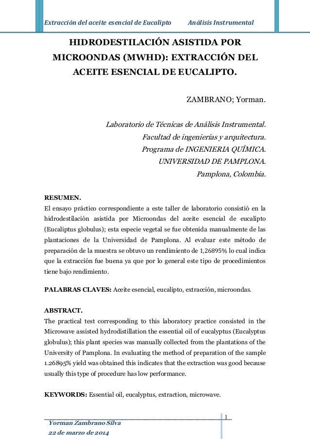 Practica de extraccion de aceites esenciales pdf