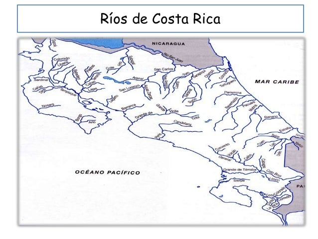 Resultado de imagen para mapa fluvial de costa rica