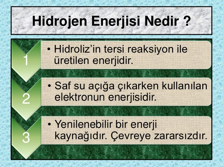 hidrojen enerjisi nasıl elde edilir ile ilgili görsel sonucu