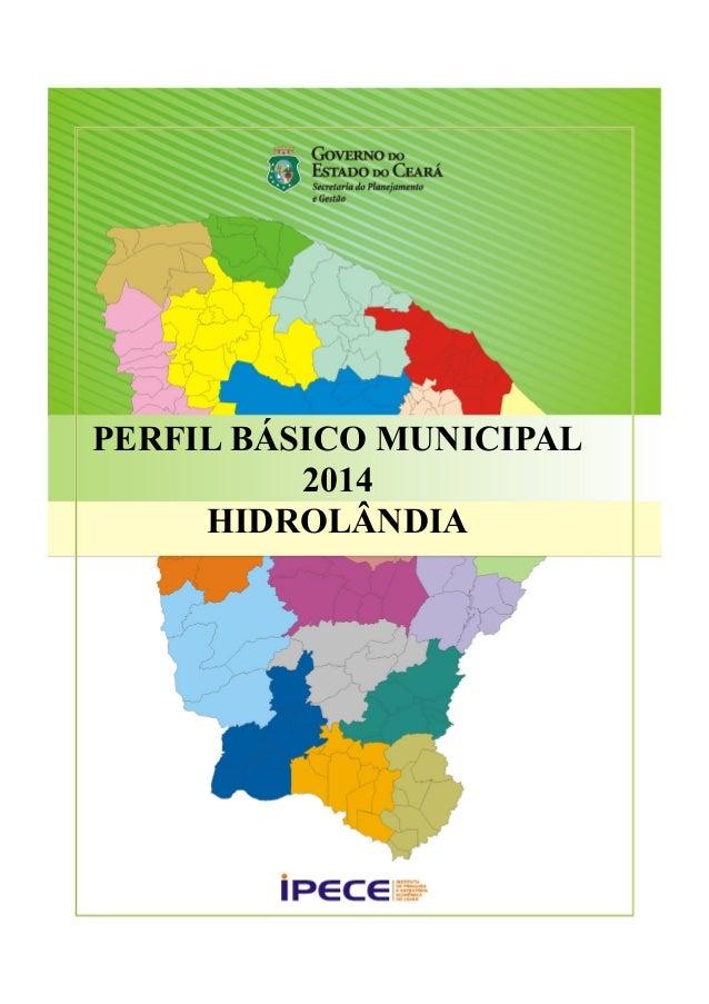 PERFIL BÁSICO MUNICIPAL  2014  HIDROLÂNDIA