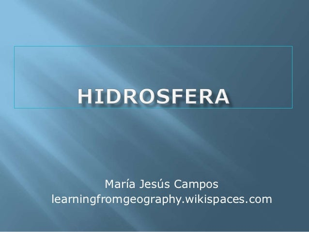 María Jesús Camposlearningfromgeography.wikispaces.com