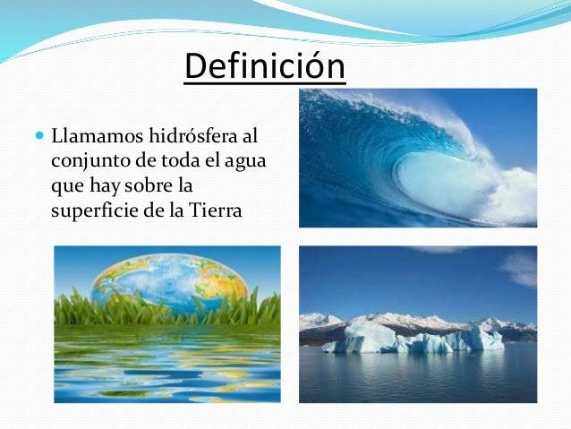 Hidrosfera Qué Es