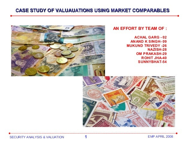 SECURITY ANALYSIS & VALUATION 1 EMP APRIL 2008 AN EFFORT BY TEAM OF : ACHAL GARG - 02 ANAND K SINGH- 09 MUKUND TRIVEDY -26...