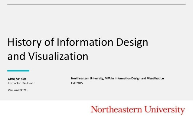 History of Information Design and Visualization Northeastern University, MFA in Information Design and Visualization Instr...