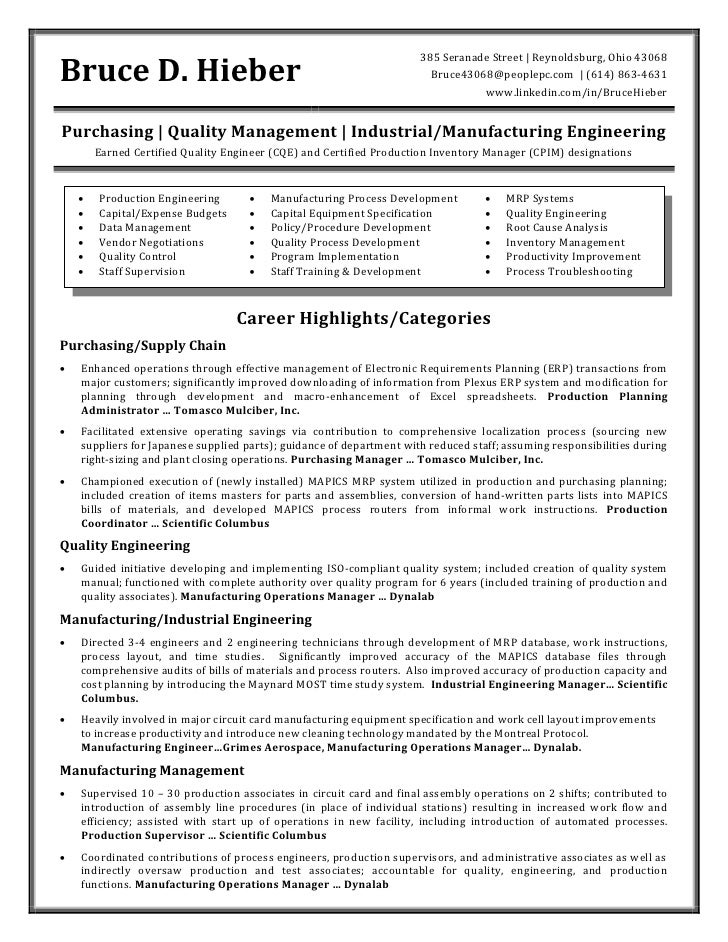 Mro Buyer Resume - CV, Curriculum Vitae and Online Resumes