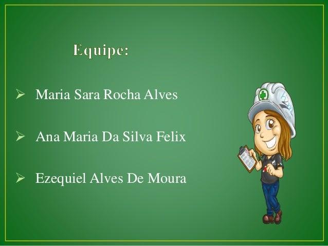  Maria Sara Rocha Alves  Ana Maria Da Silva Felix  Ezequiel Alves De Moura