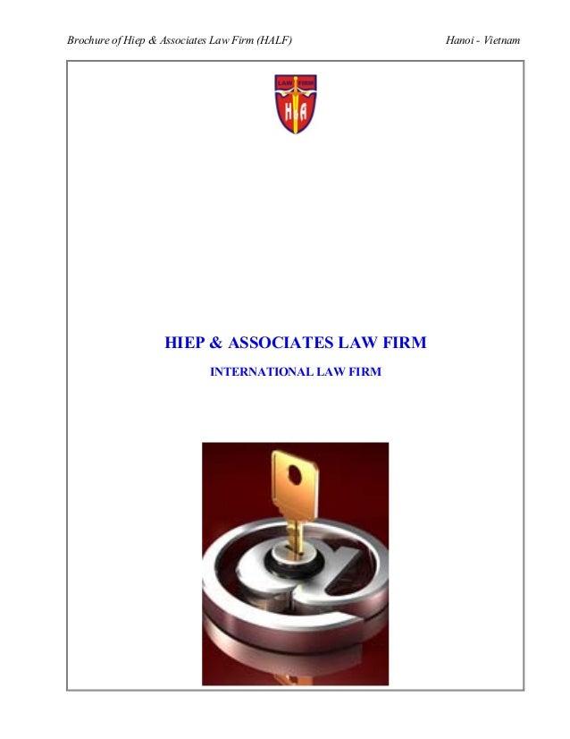 Brochure of Hiep & Associates Law Firm (HALF)        Hanoi - Vietnam                   HIEP & ASSOCIATES LAW FIRM         ...