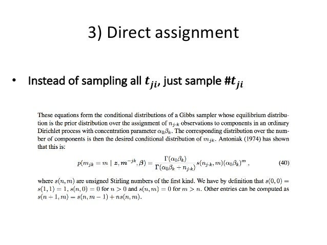 dirichlet process thesis Model order selection: criteria, inference strategies and an application to biclustering known as the dirichlet process has been applied 11 thesis overview.