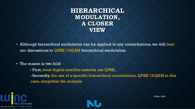 hierarchical modulation Hierarchical modulation and dvbdoc 2 these alternative methods are discussed within chapter 2 12 high and low priority data streams the data streams of.