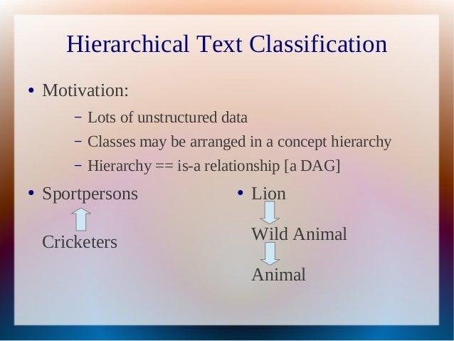 classification hierarchy