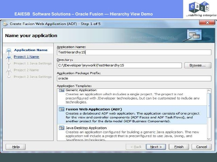 EAIESB  Software Solutions – Oracle Fusion --- Hierarchy View Demo <br />