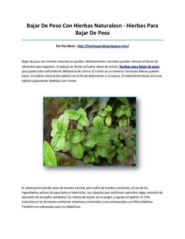 Bajar De Peso Con Hierbas Naturalesn - Hierbas ParaBajar De Peso__________________________________________________________...
