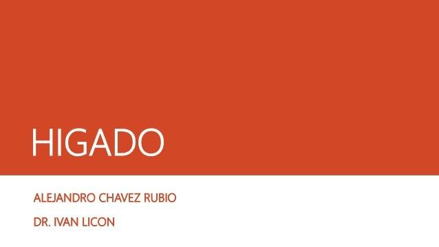 HIGADO ALEJANDRO CHAVEZ RUBIO DR. IVAN LICON