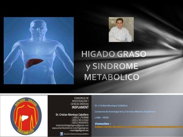 Dr. Cristian Montoya Caballero Consorcio de Investigación y Ciencias Medicas Insplament LIMA – PERU  Consultas : https://w...