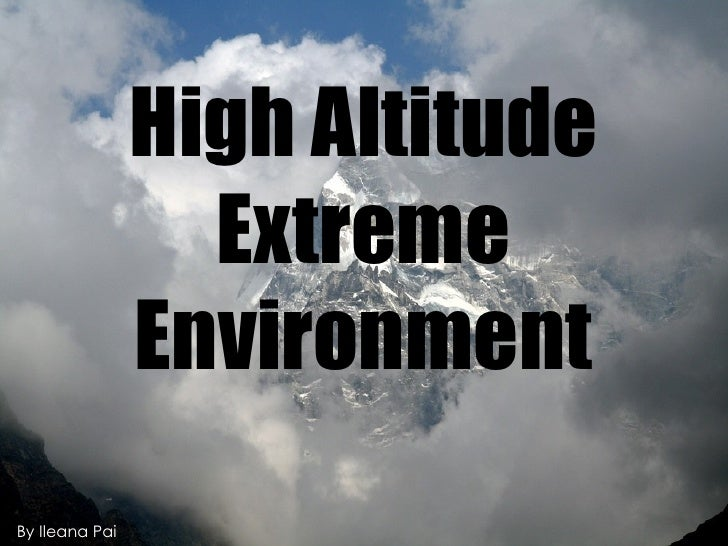 High Altitude Extreme Environment By Ileana Pai