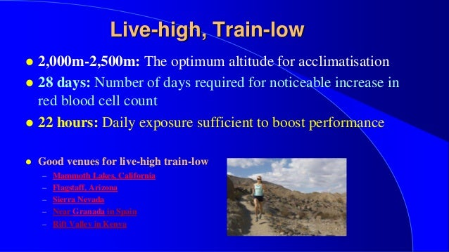 high altitude living low altitude training essay Levine, benjamin d, and james stray-gundersenliving high-training low: effect of moderate-altitude acclimatization with low-altitude training on performance.