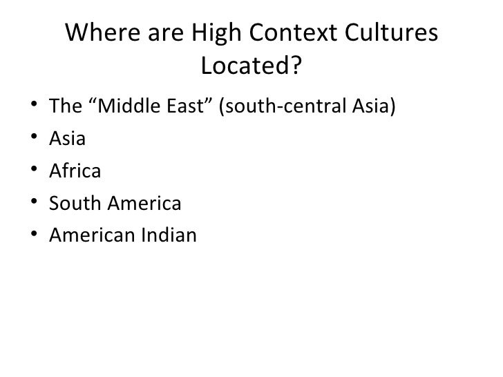 hall high and low context cultures pdf