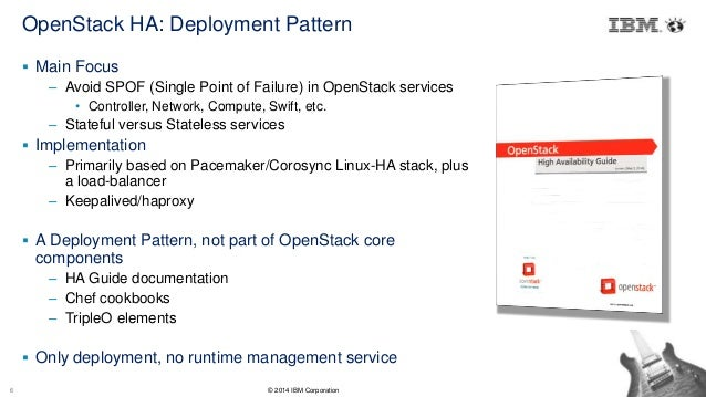 High Availability in OpenStack Cloud