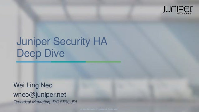 High availability deep dive high-end srx series