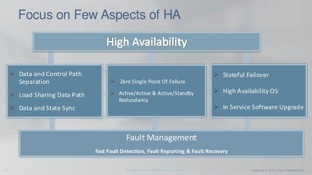 High availability deep dive high-end srx series