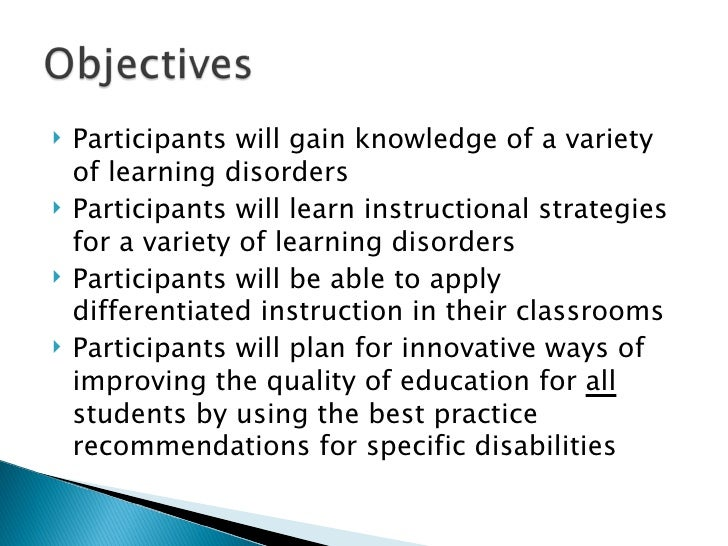 High Incidence Learning Disabilities And Accomodations 97