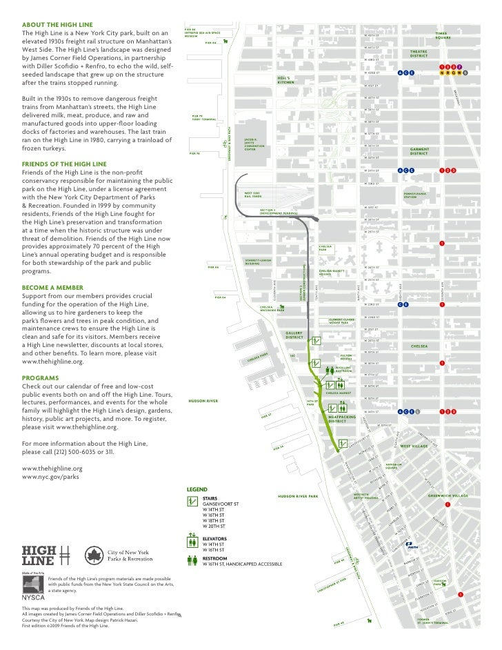 High Linemap: High Line Nyc Map Pdf At Usa Maps