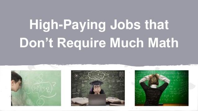 What Jobs require algebra?