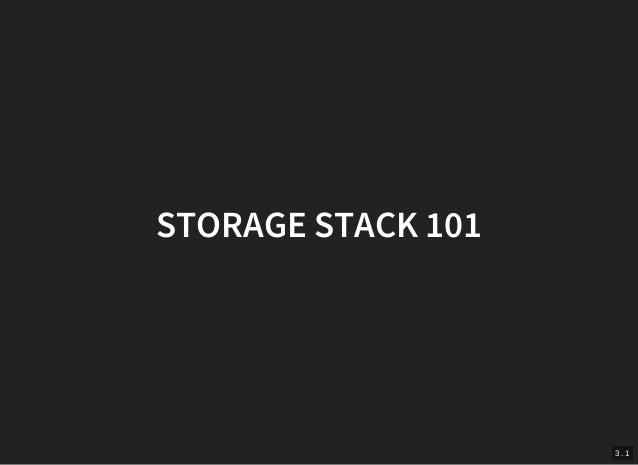 High Performance Storage Devices in the Linux Kernel Slide 3