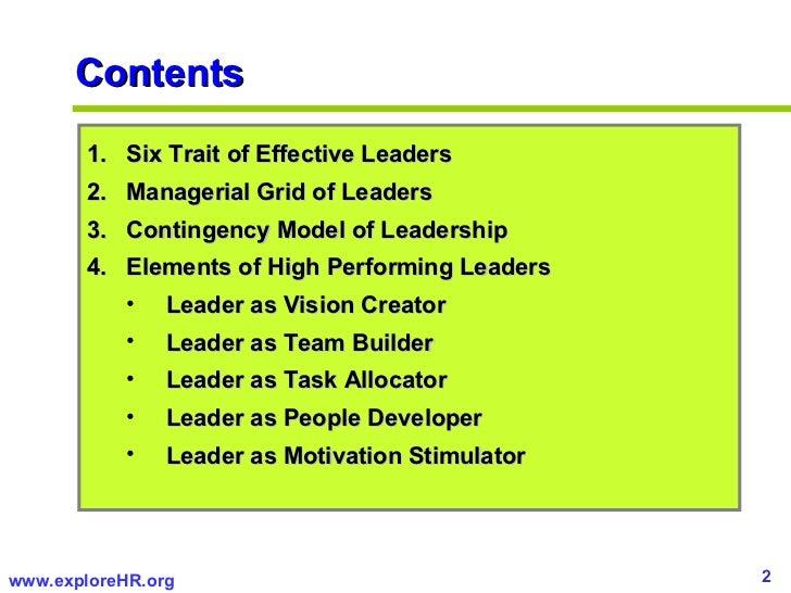 High Performing Leadership   Slide 2