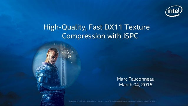 How to create a high quality, fast texture compressor using ISPC