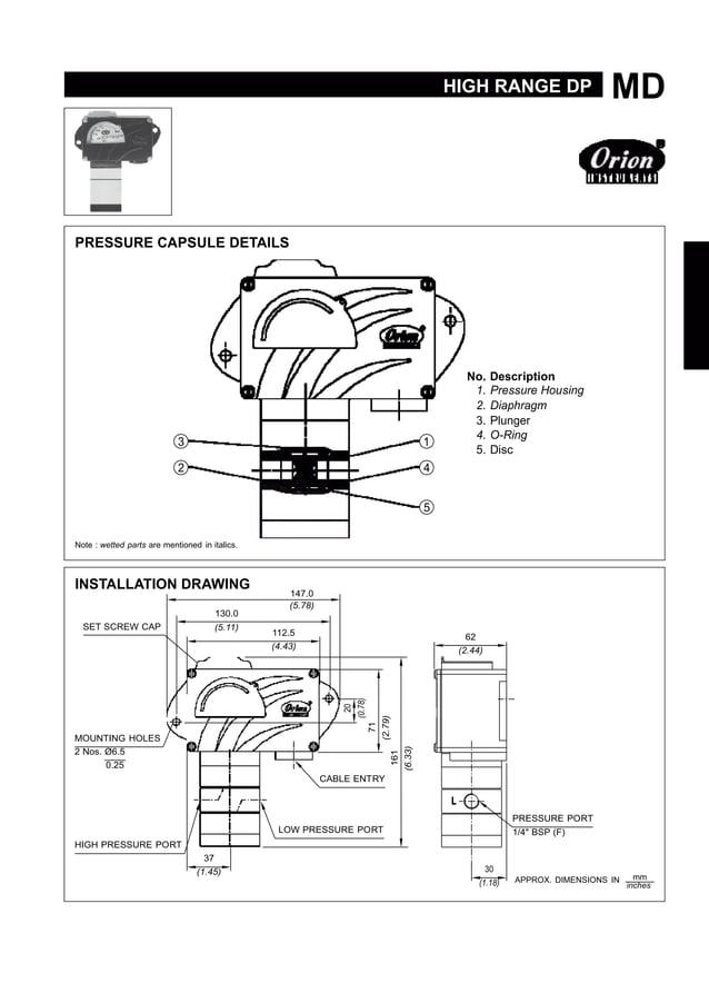 High range DP Switch MD series