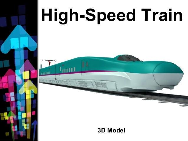 High-Speed Train 3D Model