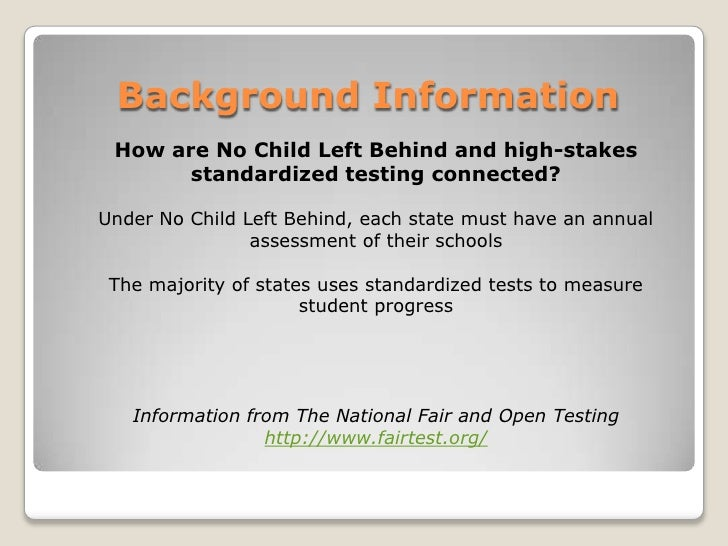 """the negative impact of high stakes testing on the learning of students This article examines the current state of high-stakes testing and its implications for students with learning disabilities (ld) q: what exactly is meant by """"high-stakes"""" standardized testing a: the term """"high-stakes"""" is used to describe tests that have high stakes for individual students, such as grade promotion or a standard high."""
