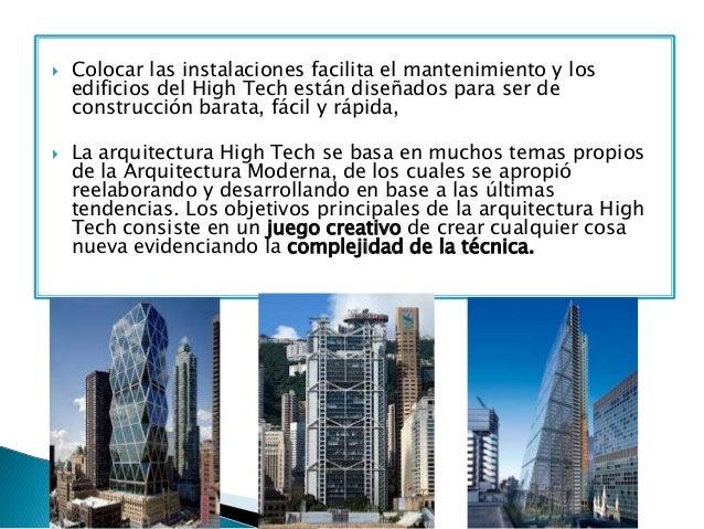 Arquitectura high tech for Arquitectura moderna caracteristicas