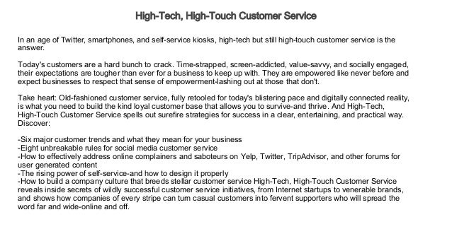 High Tech High Touch Customer Service Audiobook Free Business Ec