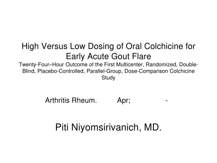 Colchicine Dosage For Chronic Gout